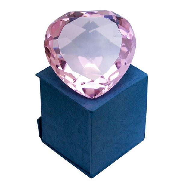 Кристалл сердце в подарочной упаковке № 322