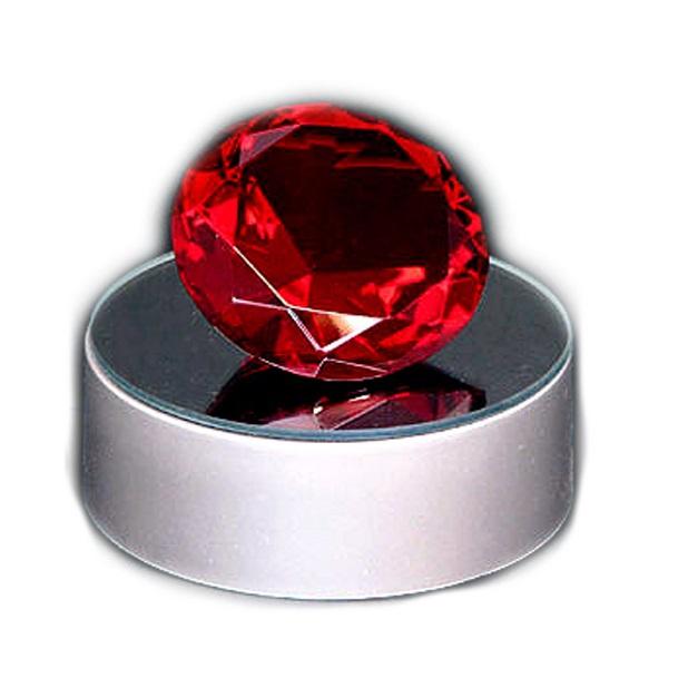 Кристалл красный 4 см